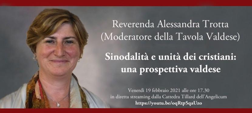 Italian Methodist Deacon Alessandra Trotta Lectures onSynodality